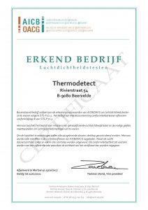 Erkenning Luchtdichtheidstesten Thermodetect OACG