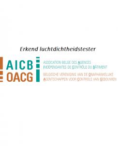 Erkend door AICB en OACG voor luchtdichtheidstest2