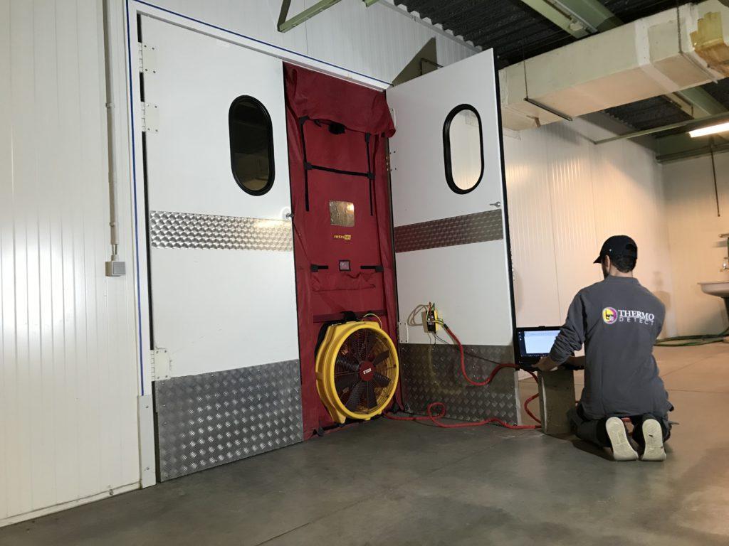 Luchdichtheidstest op installaties